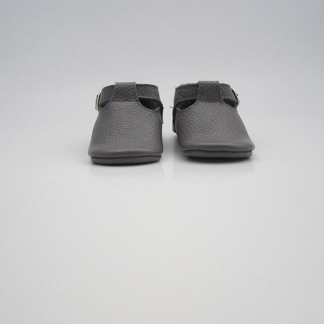 Лучшие продажи горячие продажа новая мода высокого качества мягкий новорожденных Т-образный кожаный детские мокасины