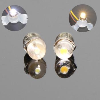 10PCS Warm White / White LED Screw Bulb E5 E5.5 12V-14V Spur H0/TT/N Scale NEW E501 1/35 model train railway modeling