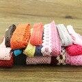 10 yard lot von farbe baumwolle spitze garment nähen stoff dekorative baumwolle häkeln spitze band handgemachten schmuck Technologie-in Spitze aus Heim und Garten bei