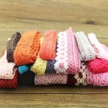 Tissu en coton coloré pour vêtement | lot de 10 mètres, dentelle de coton couleur, tissu à coudre décoratif, ruban en crochet de coton, technologie bijouterie faite à la main