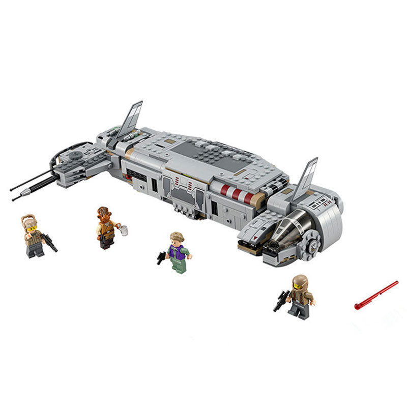 678pcs Diy Star Wars Resistance Troop Transporter Model Building Blocks Compatible With StarWars Legoingly Bricks Toys Kids Gift [jkela]499pcs new star wars at dp building blocks toys gift rebels animated tv series compatible with legoingly starwars page 1