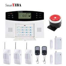 SmartYIBA Wireless Home Business Security GSM Alarm System SIM Card Burglar Alarm Outdoor Siren PIR Sensor for Complete Security