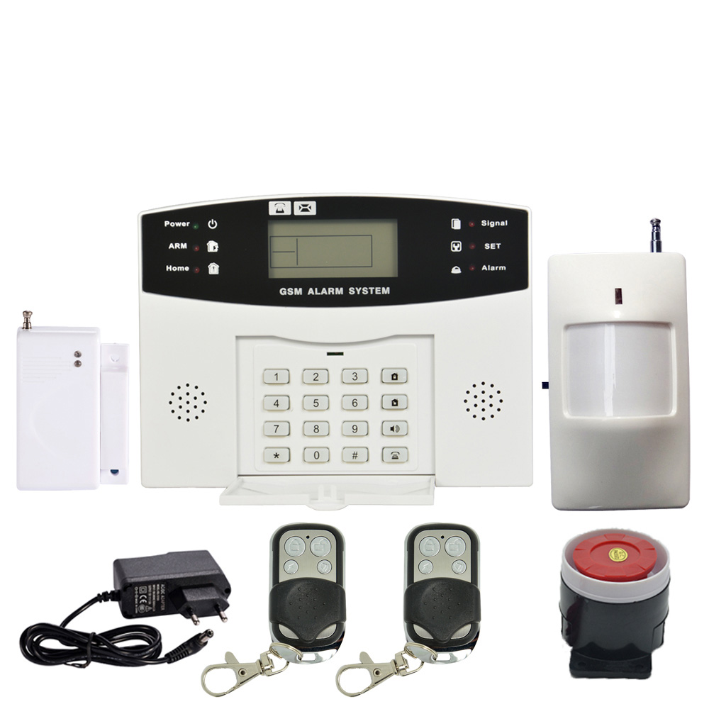 99 wireless and 8 wire zones GSM Alarm System Home Security Alarm 433Mhz Burglar Alarm Anti theft PIR Door Sensor Strobe siren цена и фото