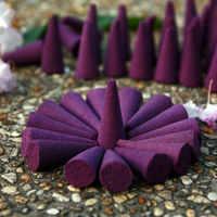 20 peças misture a fragrância cone incenso stowage colorido fragrância cones de incenso rosa perfume torre incenso potpourri desodorização