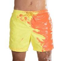 New Magical Color Changing Quick Dry Men Swimming Trunks Men Swimwear Swimsuit Beachwear Beach Shorts bathing suit 363