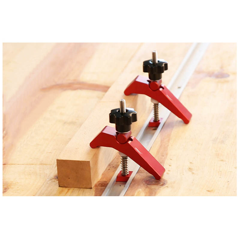 T-Track Universal Platen Miter Track Clamping Blocks  Chute Blocks Woodworking Clamps