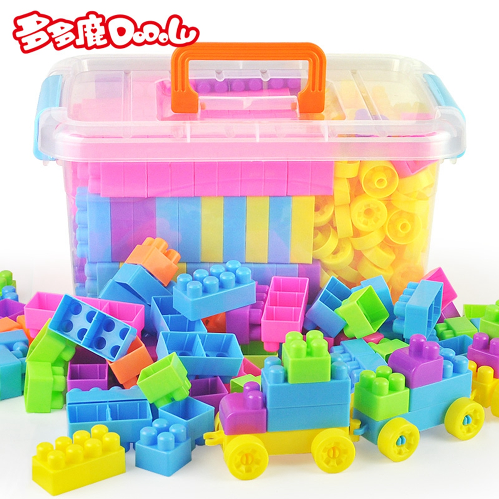 DoDoLu 268 storage boxes Large particle plastic block Baby education Beneficial intelligence Assembling Children's Toys 3-6 year hm136 57pcs large particle building