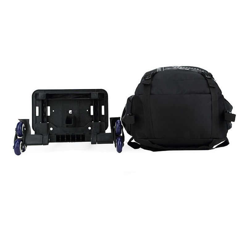 ZIRANYU последние съемные детские школьные сумки 2/6 колёса Лестницы Детские рюкзаки для мальчиков и девочек школьный ранец на колесиках чемодан книга сумки