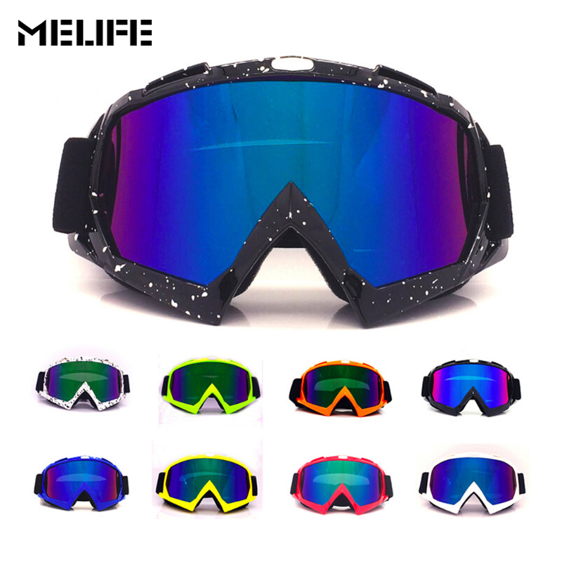MELIFE Ski Goggles Sunglasses Men Women Spherical Double UV Anti-fog Skiing Snowboard Goggles Motocross Professional For Unisex
