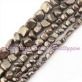 Free Shipping 3-5mm 5-8mm 7-8mm Natural Freeform Pyrite Gem Stone For DIY Necklace Bracelet Jewelry Making Spacer Beads 15""