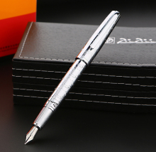 Picasso 918 Pimio Dreamy Polka Exclusive Metal Fountain Pen Iridium Fine Nib Ink Pens Gift Box Optional Business Office Gift 1pc lot picasso fountain pens 608 white pen silver clip pimio picasso mens gifts office school supplies stationery 13 6 1 3cm