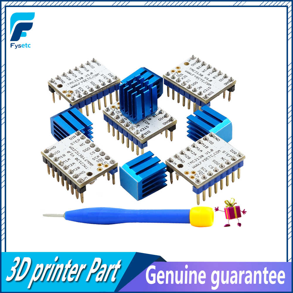 5pcs TMC2130 v1 0 Stepping Motor Mute Driver Stepstick Power Tube Built-in  Driver Current 1 4A Peak Current 2 5A Replace TMC2100