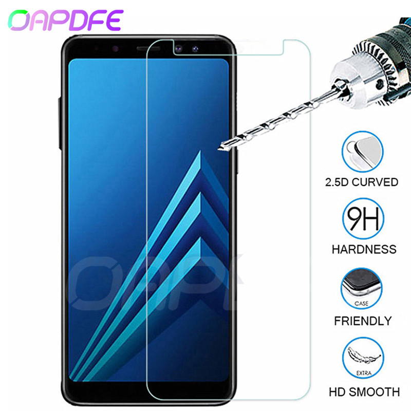 9H Anti-Burst Protective Glass For Samsung Galaxy A3 A5 A7 2015 2016 2017 A6 A8 A9 2018 Tempered Screen Protector Glass Film