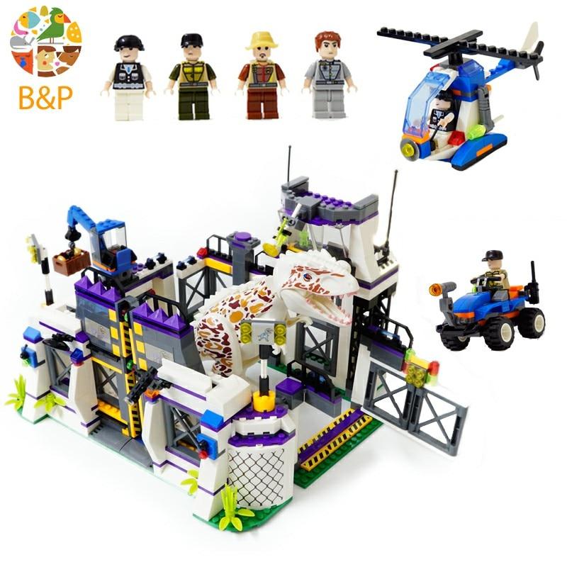 Violent Brutal Dinosaur Indominus Rex Breako Jurassic Dinosaur World 826pcs Bricks Building Block Toys For Children 75919 майка print bar brutal