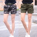 Camouflage shorts Fashion basic Top Quality Summer Women Loose Drawstring hot Short pants Multi-pocket Overalls  shorts
