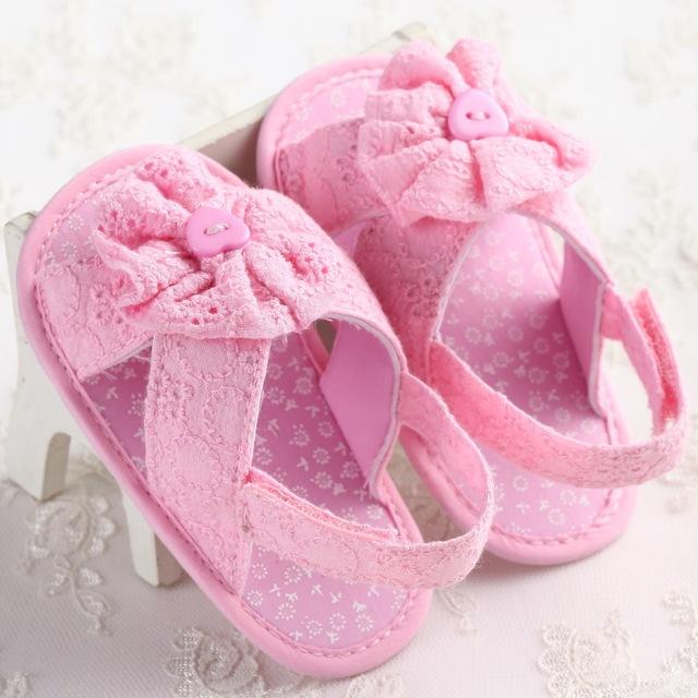 Kindstraum bebê meninas sandálias verão 2017 estilo flores projeto algodão shoes para os recém-nascidos, HJ166