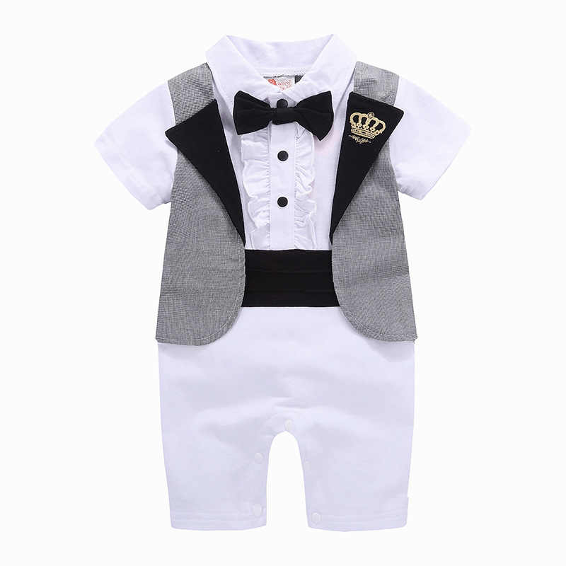 13e5c55d582c JXYSY Toddler Baby Rompers Spring New baby born clothes boys jumpsuit 2019  Autumn Gentleman cotton funny