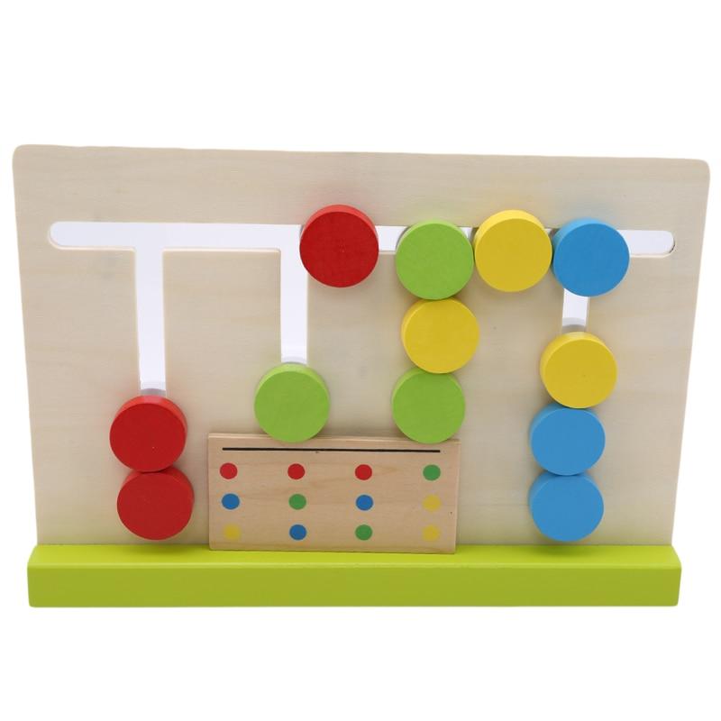 1 Set Baby Houten Blokken Vier Kleuren Matching Game Voorschoolse Training Leren Speelgoed Vroegschoolse Educatie Nieuwe Arive