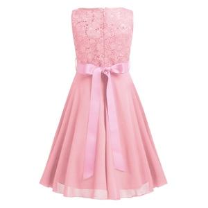 Image 4 - Iiniim robe princesse en dentelle pailletée pour filles, en mousseline de soie, sans manches, tenue princesse, tenue de concours de mariage, fête danniversaire