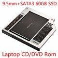 Zheino SATA 60 ГБ 120 ГБ 128 ГБ 256 ГБ SSD + Алюминий 9.5 мм ноутбук Sata SSD HDD Рамка Caddy Bay Адаптер CD/DVD-ROM оптический