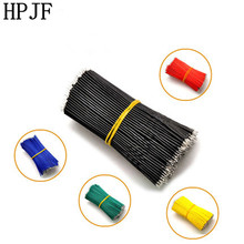 100pcs Tin-Plated Breadboard Jumper Cable Wire 5/8/10/15/20cm 24AWG for Arduino 6 Colors Flexible Two Ends PVC Wire Electronic