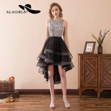Alagirls 2019 New Arrival Elegant A Line Prom Dresses Sexy Hi-Lo Homecoming Dress Keyhole Back Party dresses Vestido de fiesta