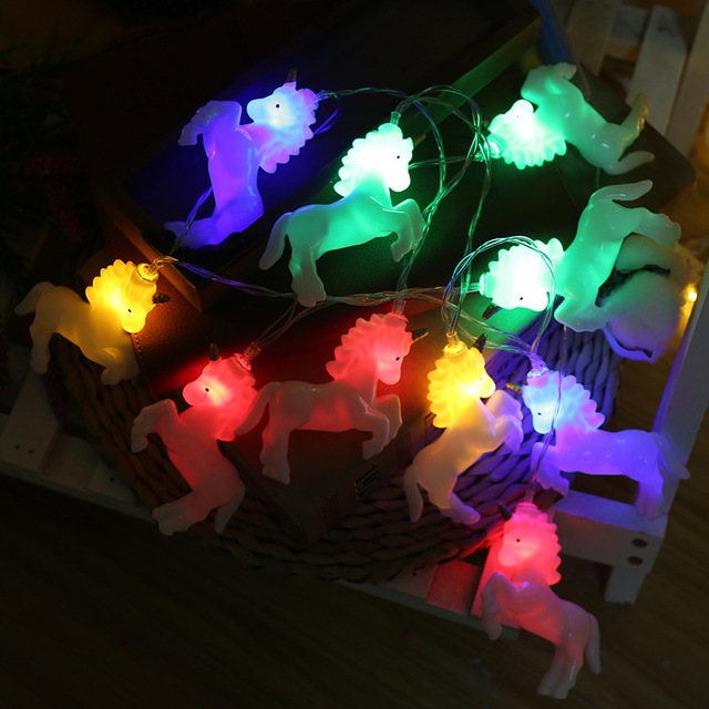 20 Led Fairy White Run Unicorn Luminaria Battery Operated String Lights 3m Decoration For Christmas Garland On The Window