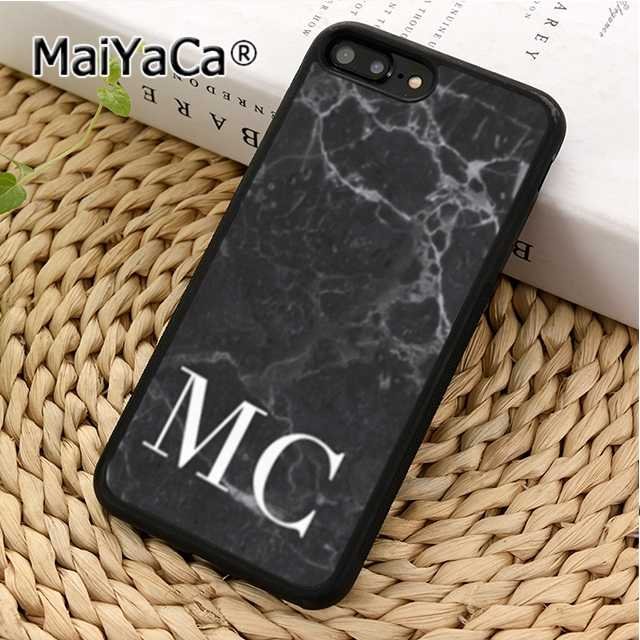 new arrival df53e a2db2 MaiYaCa PERSONALISED MONOGRAM MARBLE INITIALS Phone Case Cover For iPhone 5  5s SE 6 6s 7 8 X XR XS max Samsung S6 S7 S8 S9 plus