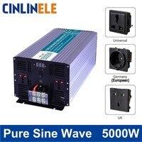 Смарт чистая синусоида инвертор 5000 Вт CLP5000 DC 12 В 24 В 48 В к AC 110 В 220 В серии Smart Солнечный Мощность 5000 Вт Surge Мощность 10000 Вт