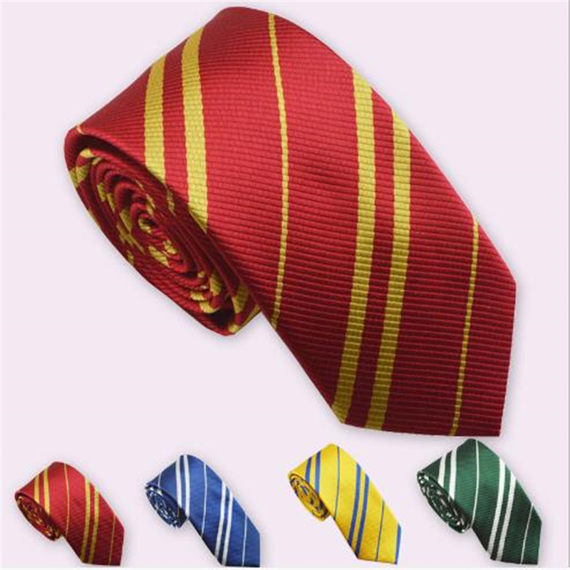 Halloween Cosplay Magic School Gryffindor Slytherin Raven Klauhechi Pach Daily Striped Tie For Men And Women