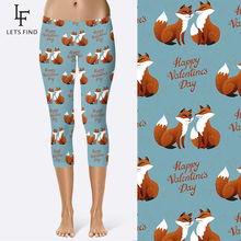 2019 New Happy Girl Leggings 3d Digital Printing Full of Love Fox Pants LOVES COMMEMORATION Valentines Day Gift Legging