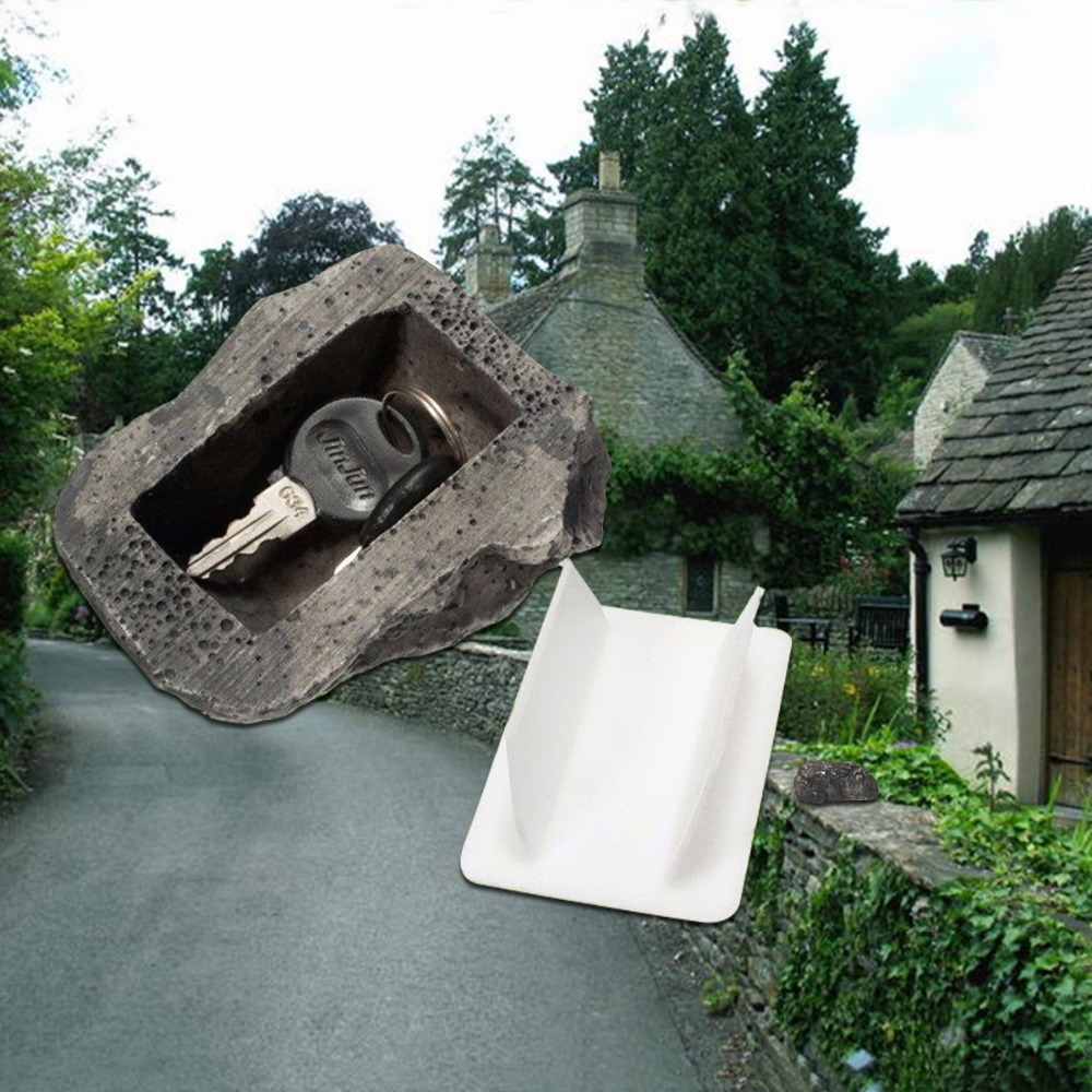 Outdoor Muddy Mud Spare Key House Safe Hidden Hide Security Rock Stone Case Box Home Decoration ASF06658W