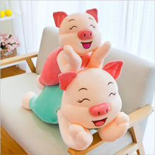 New Arrival Cute Happy Pig Plush Toys Stuffed Animal Pig Doll Toy Plush Pillow Girls Birthday Gift Children Gifts new arrival simulation ladybug plush toys stuffed animal doll toy plush pillow cushion children birthday gifts