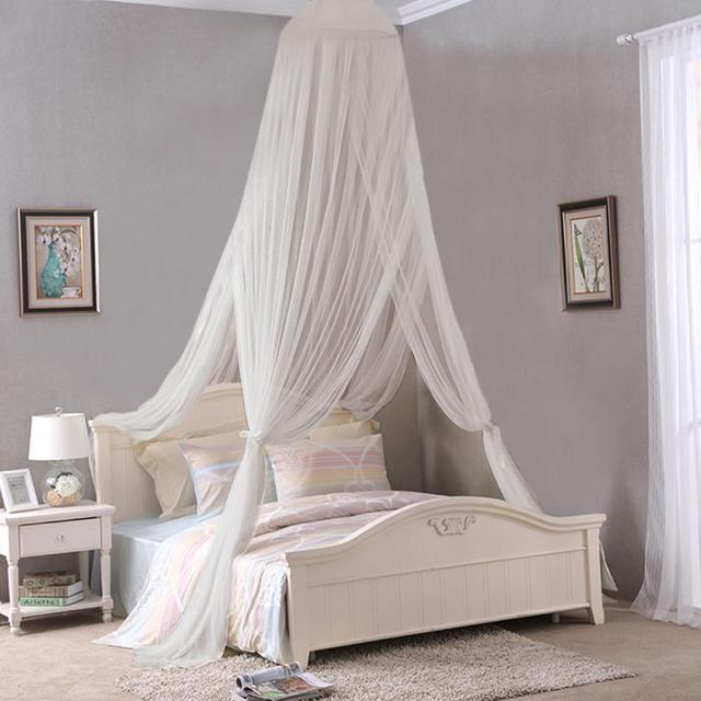 Elegante Moskitonetz Für Doppelbett Baldachin Insekt Ablehnen Net Rund Baldachin  Bett Vorhänge Mückenschutz Zelt Weiße Haus