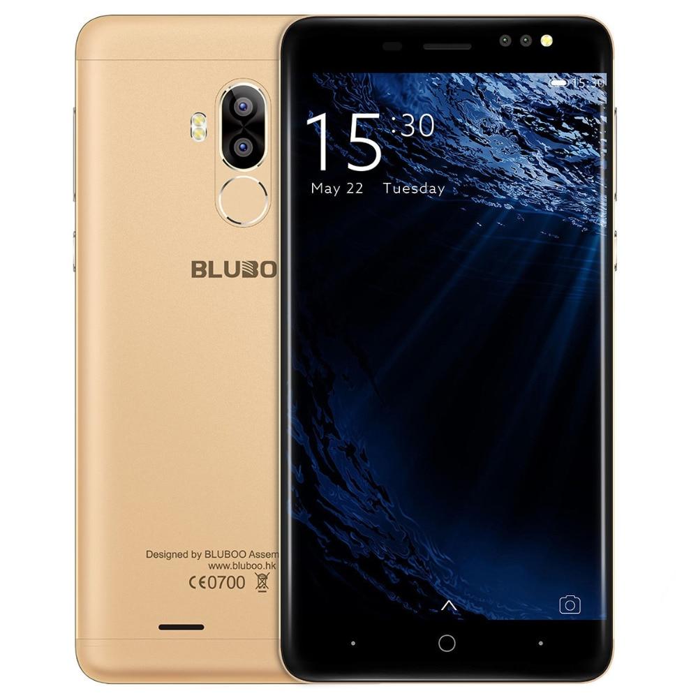 Original BLUBOO D1 5.0 Pouce Smartphone MTK6580A Quad Core 2G + 16G Android 7.0 Téléphone HD 8.0MP Double retour Caméra Mobile Téléphones