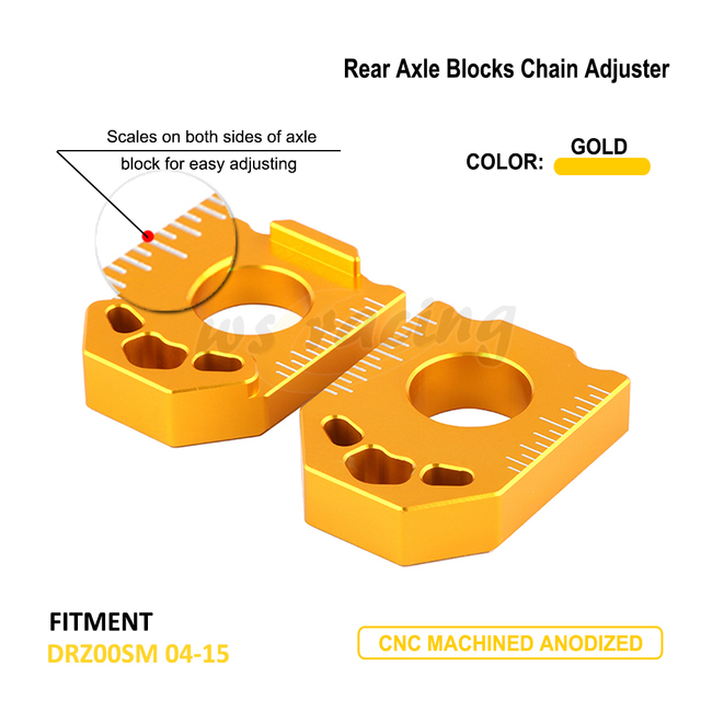 On Sale Motorcycle CNC Rear Chain Adjuster Axle Block For