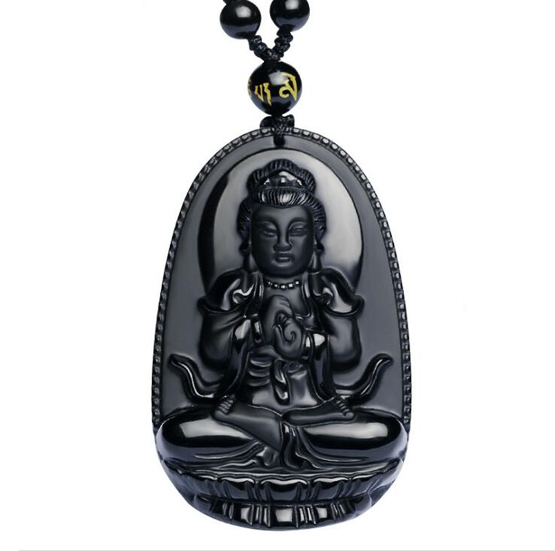 Aliexpress Com Buy 2 In 1 Constellations Pendant Amulet: Aliexpress.com : Buy Natural Black Obsidian Carved Buddha
