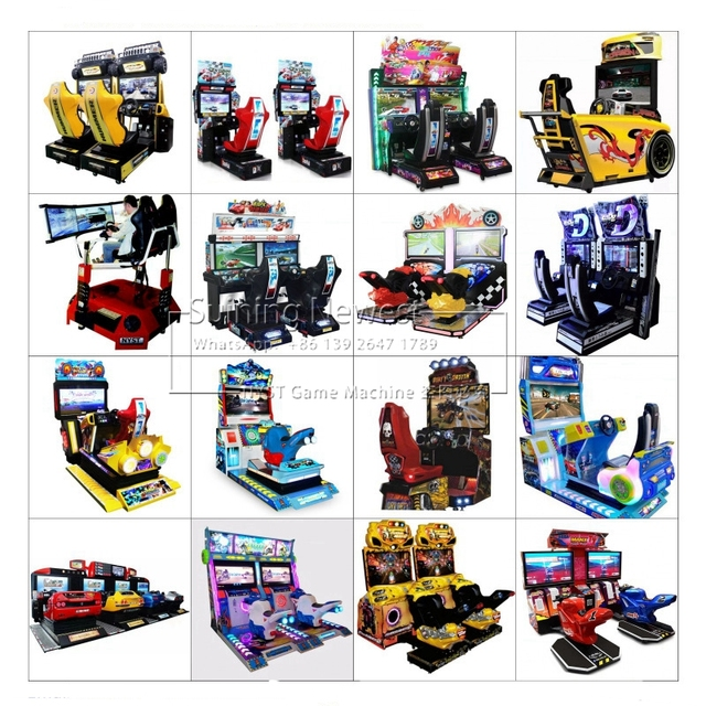 NYST The Newest Design Amusement Equipment Coin Operated Simulator Video Games Drive Car Racing Arcade Game Machine For Adults