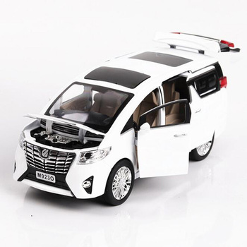 20.3CM 1:24 Scale Alphard Auto Nanny Car Van Pullback Model Diecast Metal Alloy Car Collections Gifts For Children Kids image