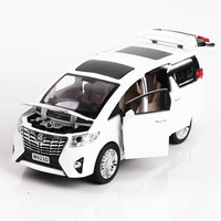 20.3CM 1:24 Scale Alphard Auto Nanny Car Van Pullback Model Diecast Metal Alloy Car Collections Gifts For Children Kids