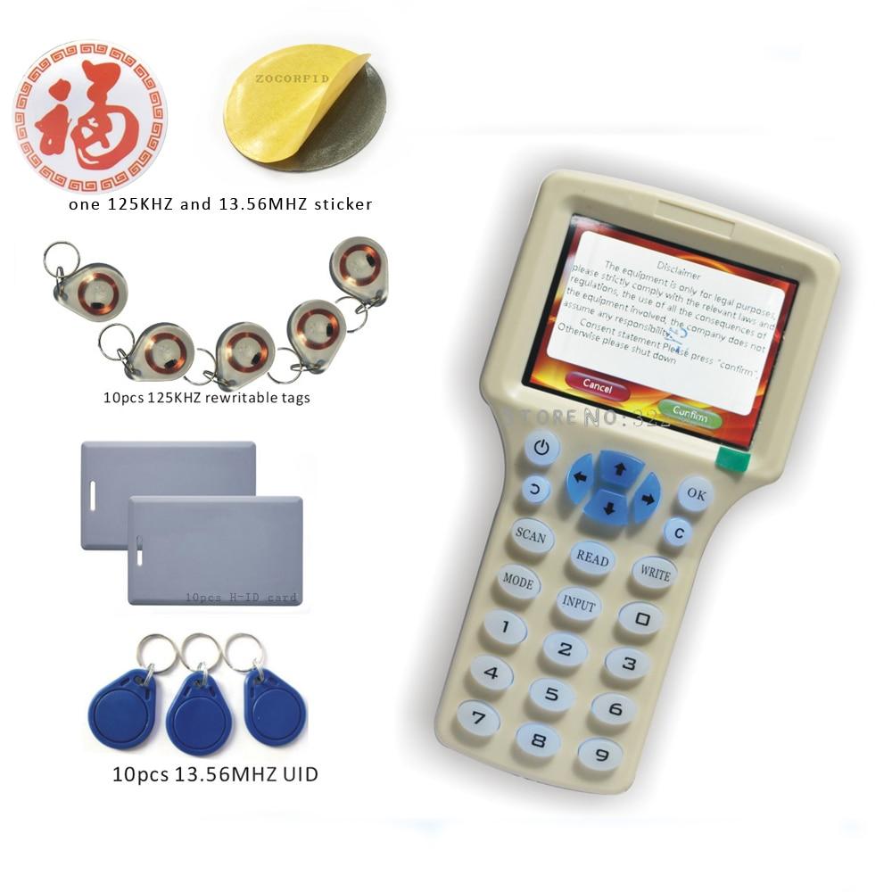 imágenes para Tarjeta RFID Leer-Escritor inglés versión 10 estilos/RFID Copiadora/Programador copia encriptada para 0 Sector + 30 unids Regrabable KeyFob