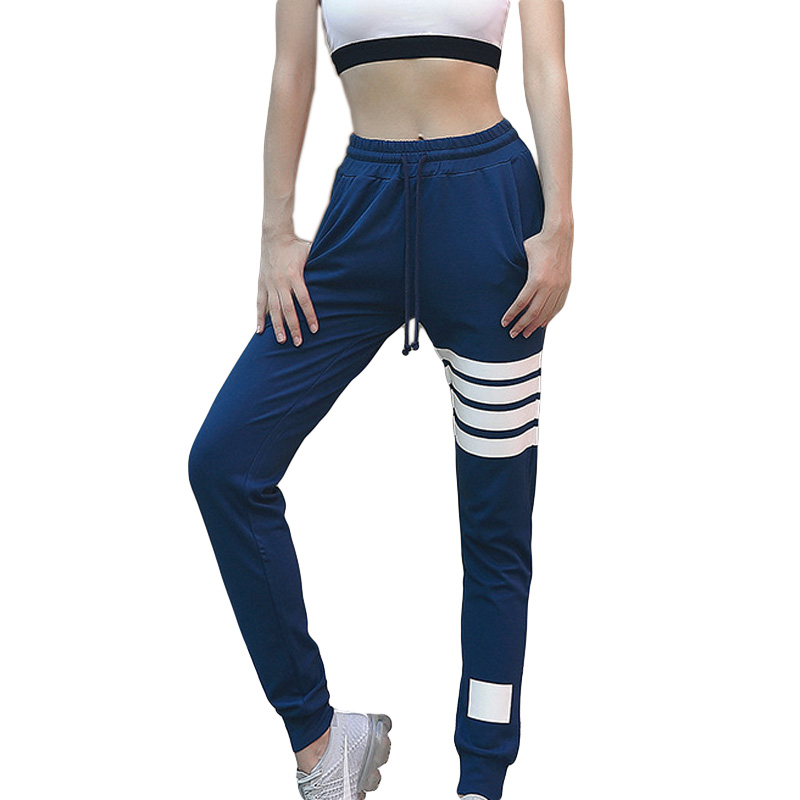 Ms. 2018 Autumn Thickening Yoga Pants Trend New Striped