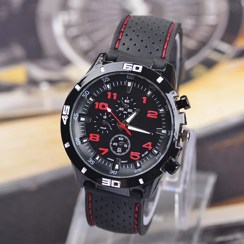 Otantik Ordu Spor Askeri İzle Kuvars Silikon Saat saatleri Moda Casual Marka Erkekler Bilek saatler Relojes de Hombre FD0189