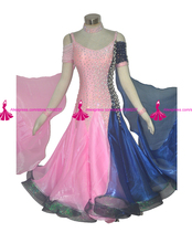 Standard Ballroom Competition Dance Dress Lady's Modern Waltz Tango Juvenile Dresses High Quality Dancing Costume Women