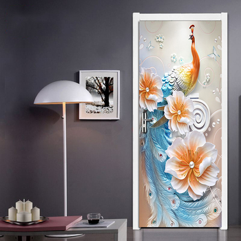 Modern Simple Abstract Art Color Peacock Background Wall Home Decoration Living Room Door Sticker PVC Waterproof Mural Wallpaper beauty little girl wall sticker pvc wallstickers wall art wallpaper for kids room decoration waterproof adesivi murali lw588