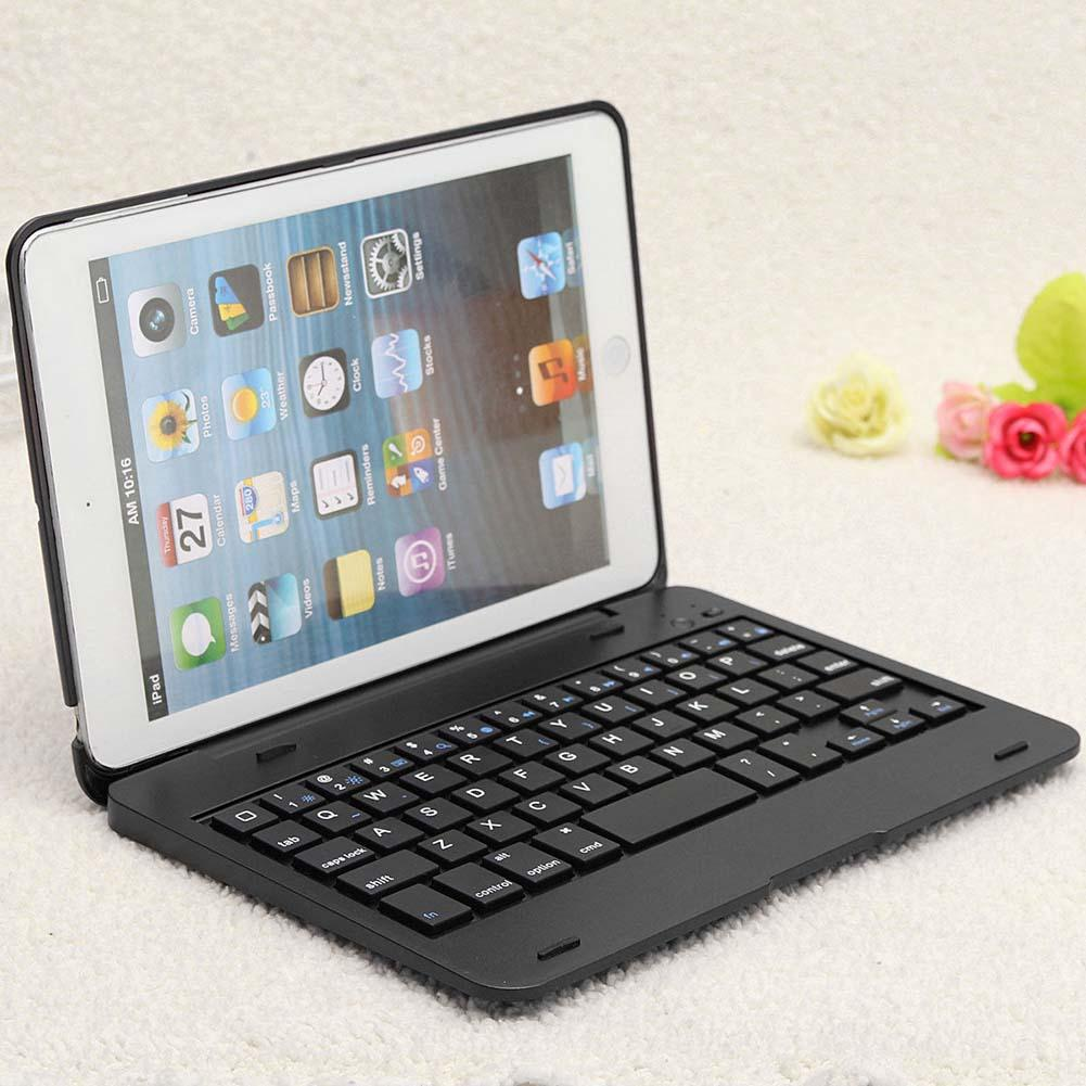 Foldable Wireless Bluetooth Rechargeable Keyboard Case Cover For iPad Mini A Shockproof Keyboard Case Case Cover For iPad foldable bluetooth v3 0 keyboard for ipad air black