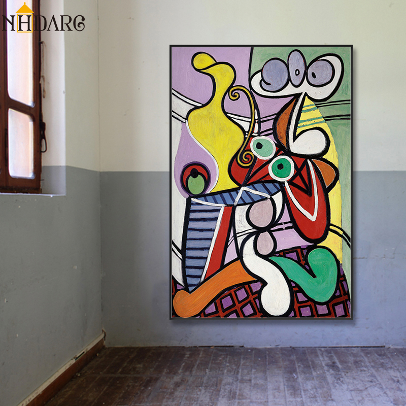 Canvas Art Paintings Posters Wall-Pictures Abstract Prints Living-Room Picasso-Style