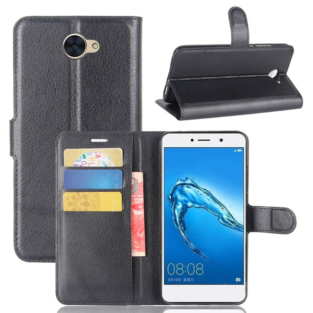 purchase cheap e4909 836a6 US $3.18 |For Huawei Y7 Case Leather Flip Back Cover For 5.5 inches Huawei  Y7 With Stand And Wallet-in Flip Cases from Cellphones & Telecommunications  ...