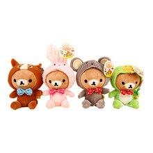 Free Shipping 12pcs/lot New Rilakkuma Dolls Wearing Zodiac Mascot Costumes,Lovely Plush Toy Stuffed Animal Dolls with Sucker