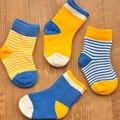 Otoño/Invierno 0-3 Años Calcetines de Bebé Niño y niña lindo calcetines de niño calcetines de bebé bebés 4 par/lote Pequeño Cabrito Meias Bebe